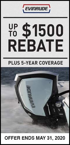 May Evinrude outboard promotion